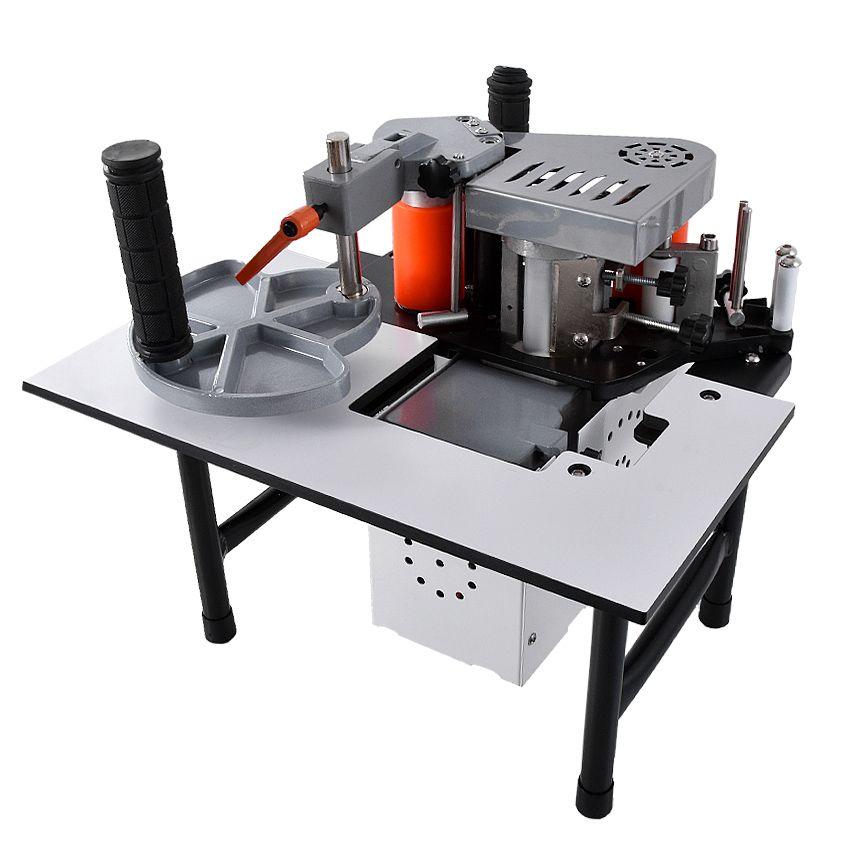 SC-40 Tragbare Rand Banding Maschine Holz PVC doppelseitige Kleben Kantenanleimmaschine mit Tablett und Cut Einstellbare Geschwindigkeit 110 v/200 V 1200 W