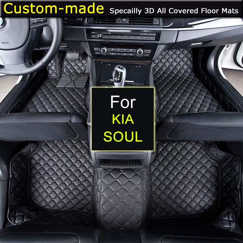 For KIA Soul Car Floor Mats Custom Carpets Car Styling Customized Specially Made for Sorento Carens Opirus Sportage