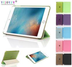 Kasus untuk Apple 2017 2018 Baru Ipad 9.7 untuk Udara 1 Tidur Wake-Hingga Magnet-Ycjoyzw Pintar ultra Ramping Asli 1: 1 Tablet Kulit