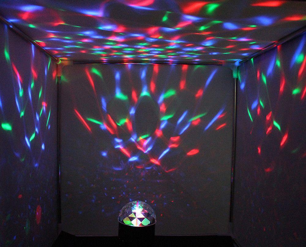SXZM 3 Watt LED RGB Kristall Ball Sound Aktiv Bühne Licht für Kinder Geburtstagsparty Hochzeit Beleuchtung Zeigen Feiern lampe