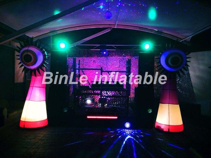 Angepasst eingang 3mH riesigen aufblasbaren auge säule mit led-leuchten spalte für partei dekoration