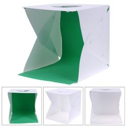 Portable Folding Lightbox Photography Studio Softbox LED Light Soft Box Tent Kit for iPhone Samsang DSLR Camera Photo Background