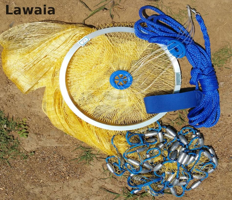 Lawaia 2.4-4.2m American Sign Cast Net/subnet In Hand Net 3.6m Fishing Net Fishing Lure Eel Gaiolas Redes Cast Net 4.2m Network