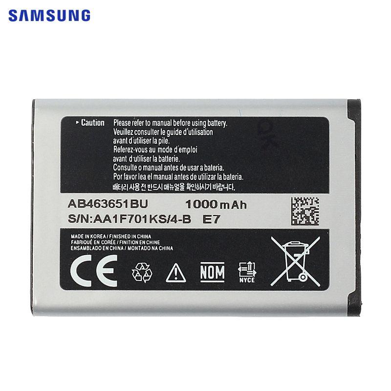 SAMSUNG Batterie D'origine AB463651BU Pour Samsung W559 S5620I S5630C S5560C C3370 C3200 C3518 J808 F339 S5296 C3322 L708E S5610
