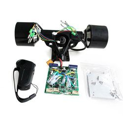 2018 Baru DIY Dual Drive 70 Mm 83 Mm 90 Mm 180 W 250 W 350 W Listrik Skateboard Hub motor Truk Kit ESC dan Remote Skate Board