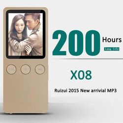 MP4 Player With 1.8 Inch Screen Music play times 200 hours, 8GB With FM,E-Book,Clock,Data For 64GB Micro SD TF Card