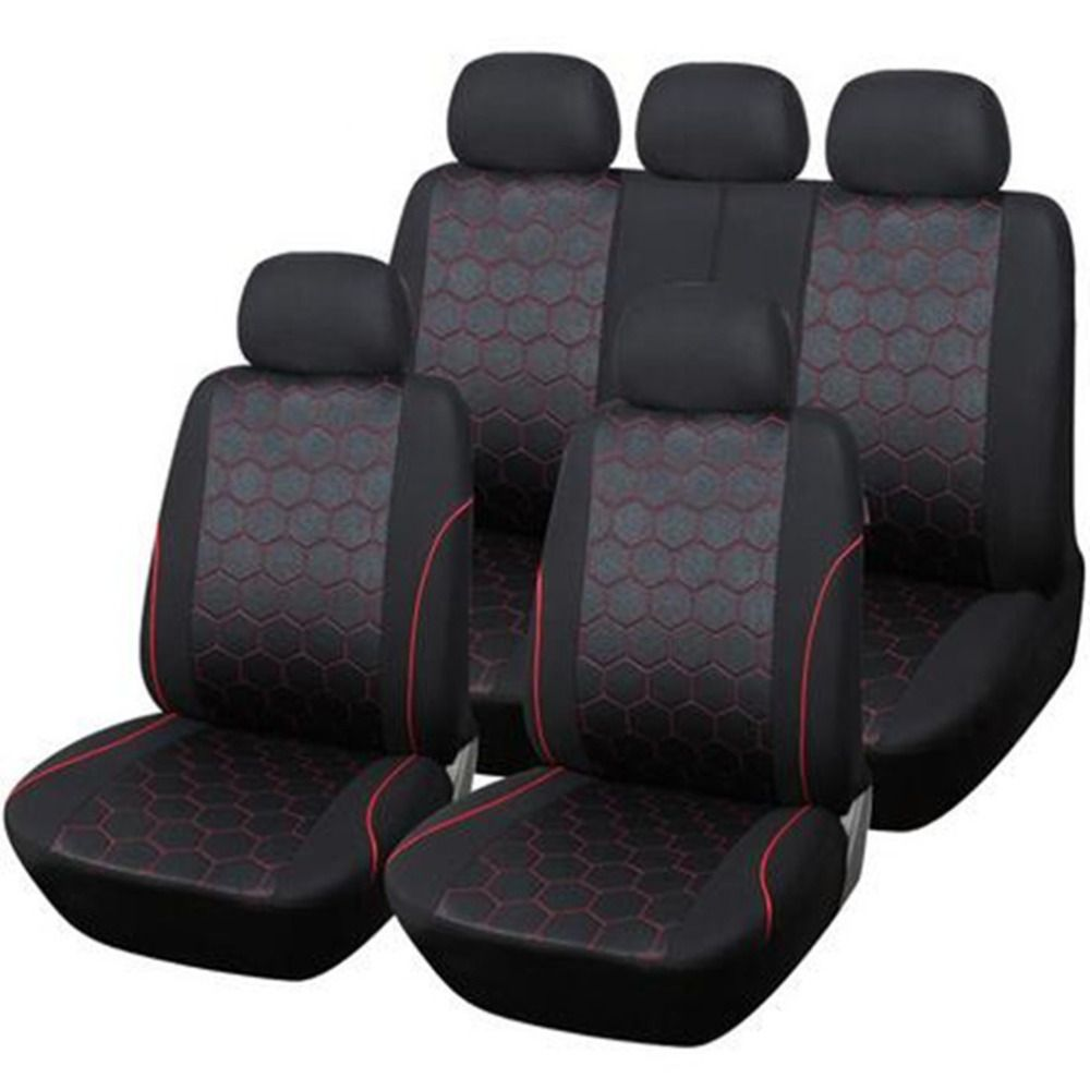 2017 New Hexagon Auto Car Seat Cover Car Accessories Car Interiors Seat Covers Black Covers Universal Fit Many Vehicles