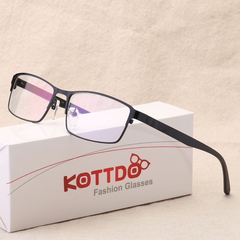 KOTTDO Brand Design Retro Men Eyeglasses Male Myopia Glasses Spectacle Frames for Men Anti Blue Ray Computer Glasses TY018