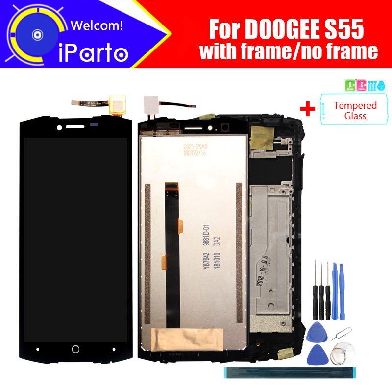 5.5 pouces Doogee S55 LCD affichage + écran tactile numériseur assemblée 100% Original nouveau LCD + tactile numériseur pour S55 + outils