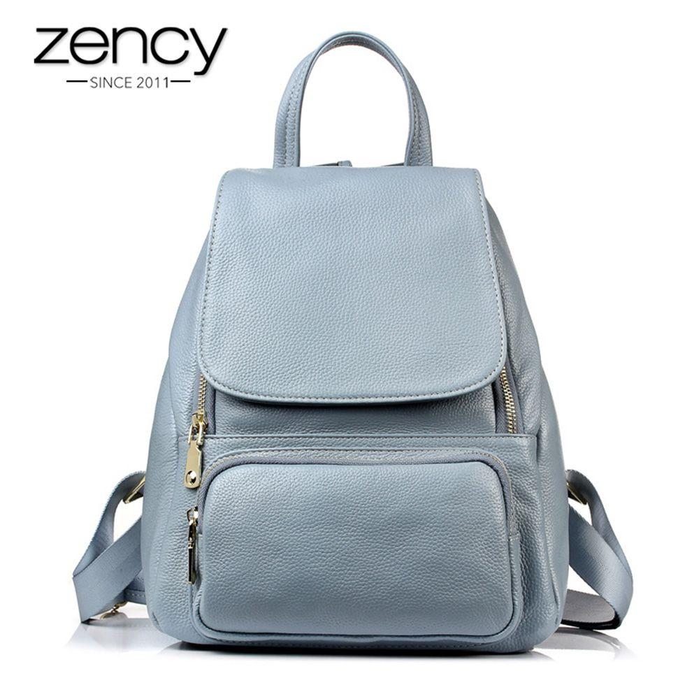 2018 New Designer High Quality Genuine Leather Fashion Women Backpack Girl School Book Bag Laptop Female Mochila Feminina