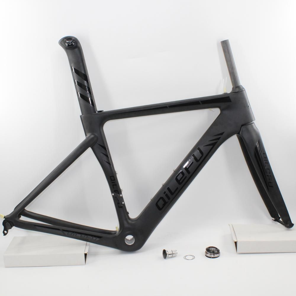 Brand New matt+gloss logo QILEFU 700C racing Road bike UD full carbon fibre bicycle frames fork seatpost headsets Free shipping