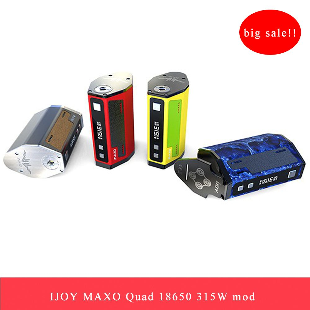 Clearance Original 315W Vape Mod IJOY MAXO <font><b>QUAD</b></font> 18650 TC BOX MOD Electronic Cigarette 5 Modes Firmware Upgradable Vape Box Mod