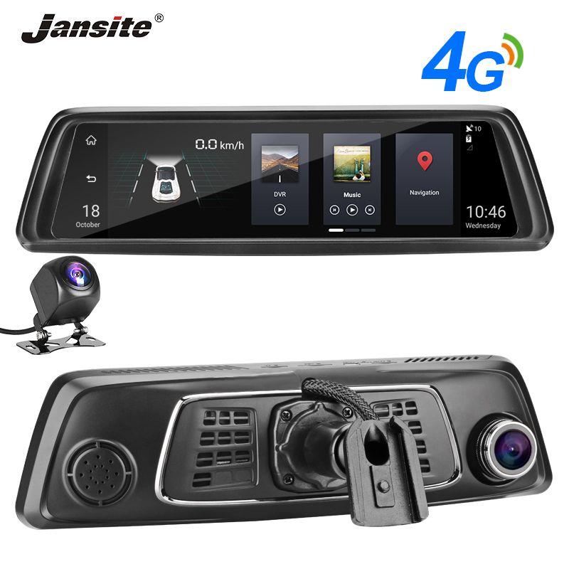 Jansite 10 zoll FHD IPS Touch Screen 4G Auto DVR Android5.1 Auto Spiegel GPS Navigation Bluetooth ADAS Reverse bild dual SD karte