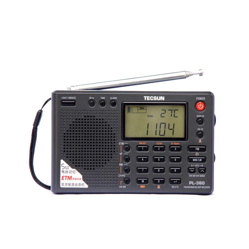 Tecsun PL-380 PL380 radio Numérique PLL Portable Radio FM Stéréo/LW/SW/MW DSP Récepteur Nice