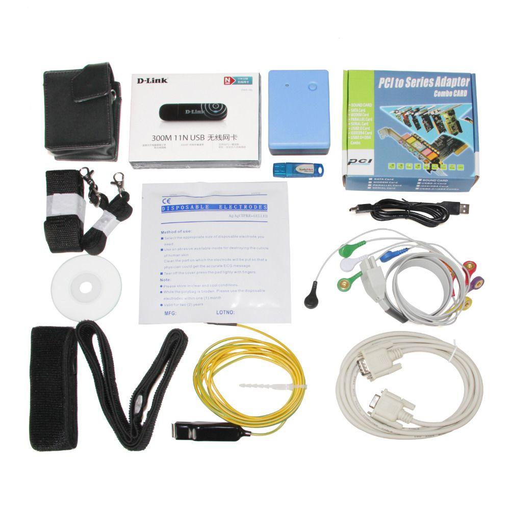 CONTEC CONTEC8000S Drahtlose Übung Stress EKG Analyse System Maschine PC Software EMS Kostenloser Versand