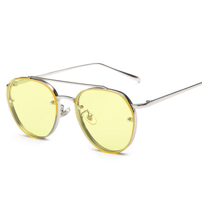 New Color KF118-134 Metal Ring Frame Sunglasses For Women Sunglasses Ladies Sun glasses