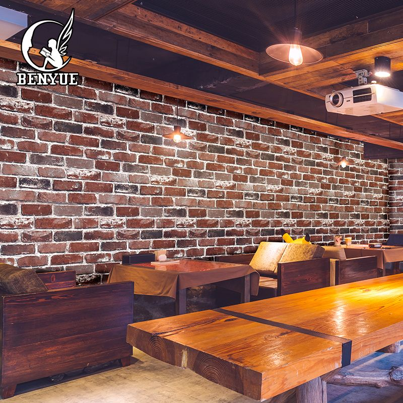 Suppliers High Quality 3d brick wallpaper stone wall paper faux brick wallpaper 3d Living Room wallpaper Sofa TV Background