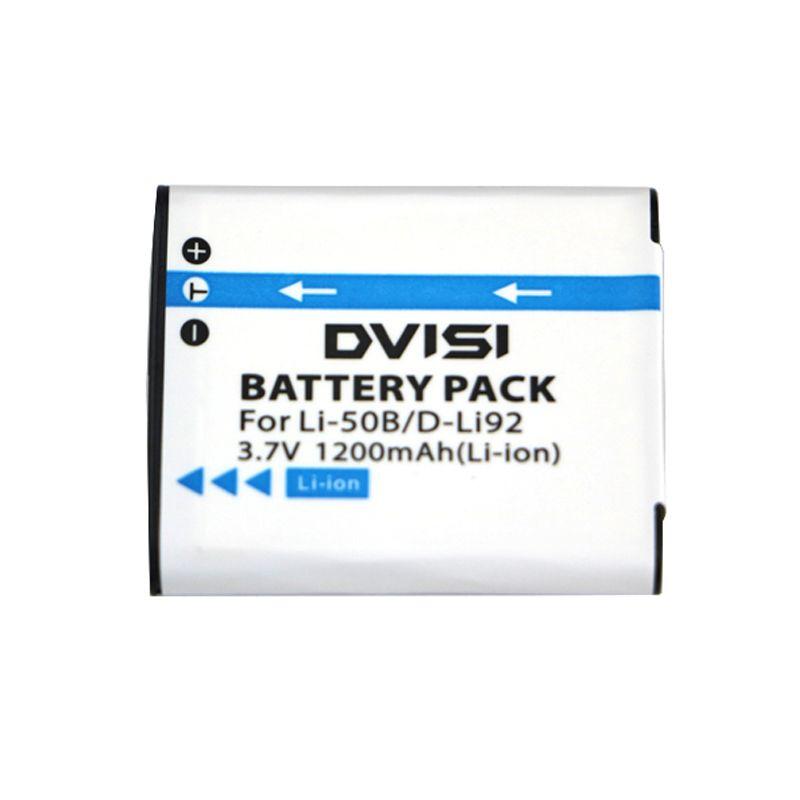 DVISI 3.7V 1200mAh LI-50B LI 50B LI50B Batterie pour Appareil Photo Olympus LI-50B LI 50B LI50B pour Pentax D-LI92 XZ-1 SP-800UZ SZ-30MR