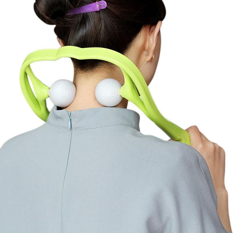 Masseur de cou pour le cou et les épaules double Point de déclenchement outil d'auto-Massage simule le Massage des tissus profonds Massage thérapeute mains