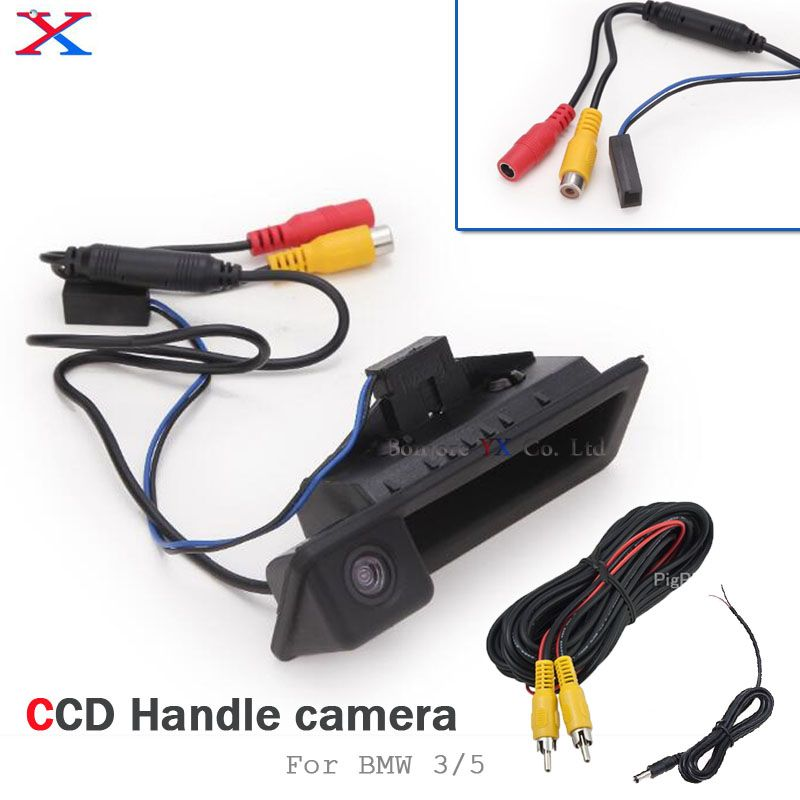 Car Rearview Camera handle Button Trunk For BMW 3/5 Series X5 X1 X6 E39 E46 E53 E82 E88 E84 E90 E91 E92 E93 E60 E61 E70 E71 E72