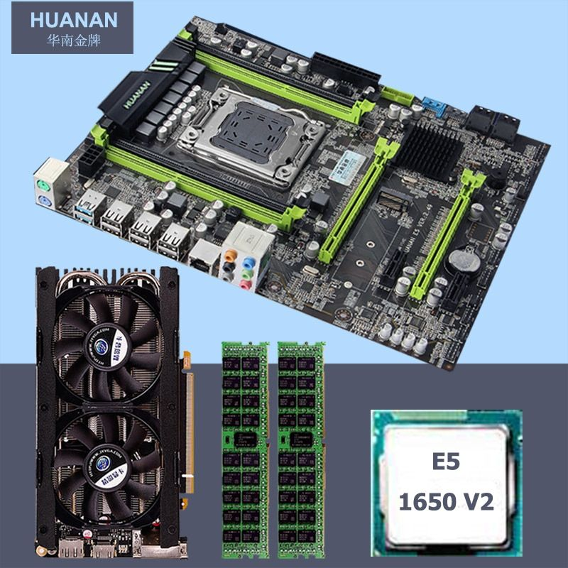 Build computer HUANAN v2.49 X79 motherboard CPU RAM combos CPU Xeon E5 1650V2 RAM 16G(2*8G) DDR3 RECC with GTX760 4G Video card