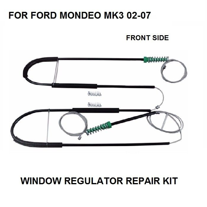 CAR CABLE FOR FORD MONDEO MK3 WINDOW REGULATOR REPAIR KIT FRONT LEFT or RIGHT 2000-2007 NEW