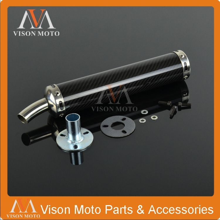 22MM Exhaust Pipe Muffler Carbon Fiber Slip on For Scooter 50CC 110CC 150CC