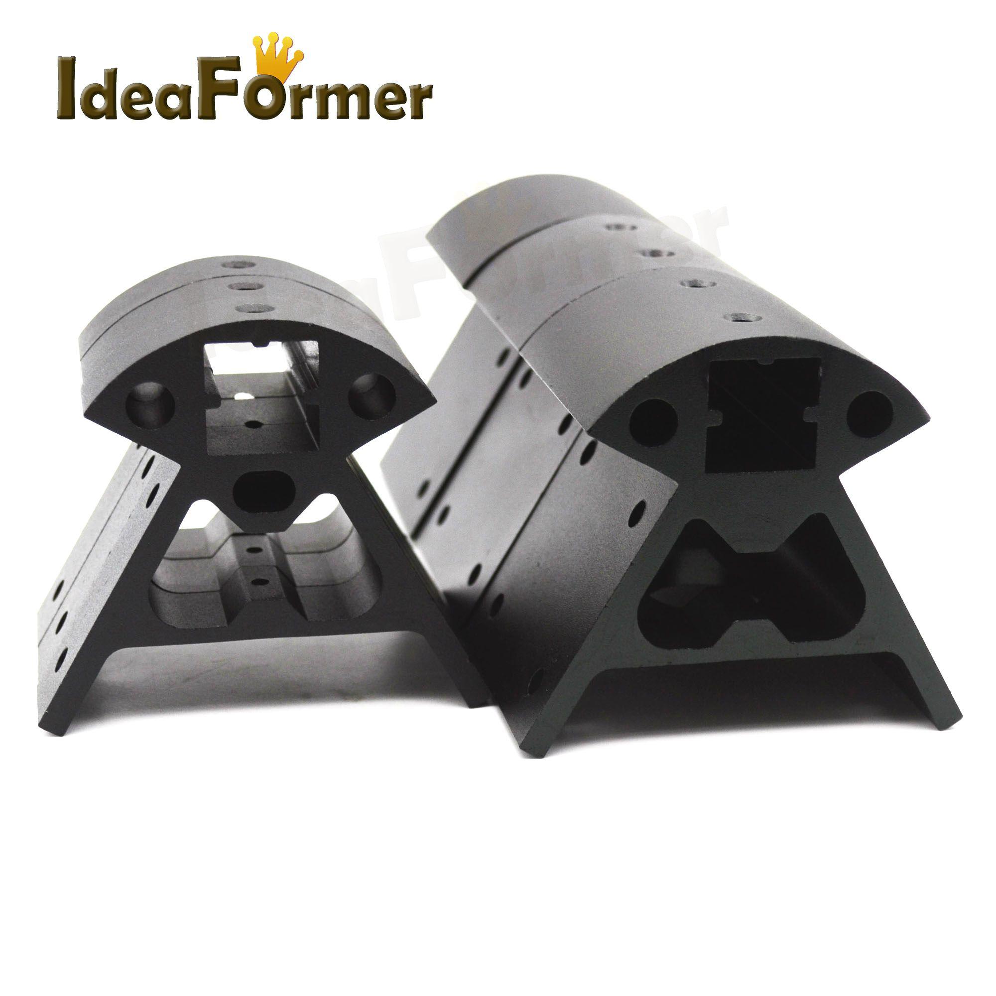 1set 6pcs Kossel Delta Aluminum Block 2020 Aluminum Alloy Corners profile Black/ Silver/ Golden 3D printer parts