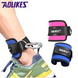 AOLIKES 1 PCS Fitness Einstellbare D-Ring Ankle Straps Fuß Unterstützung Knöchel Protector Gym Bein Pullery mit Schnalle Sport füße Schutz