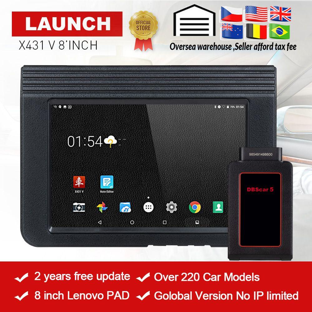 STARTEN X431 V 8'inch Globale Version Voll System Diagnose-Tool X-431 V Bluetooth/Wifi OBD2 Scan tool verwendet in 200 + ländern