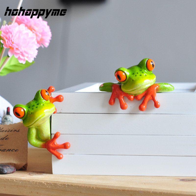 Grenouille Figurine décoration 2017 nouveau artificiel animaux artisanat créatif Kawaii Micro paysage personnalisé grenouille Figurine décoration