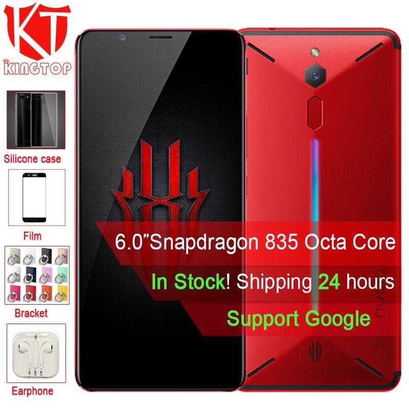 Original ZTE Nubia Red Magic Game Mobile Phone 6 inch Octa Core 6GB 64GB Full Screen Fingerprint Android 8.1 4G LTE Smartphone