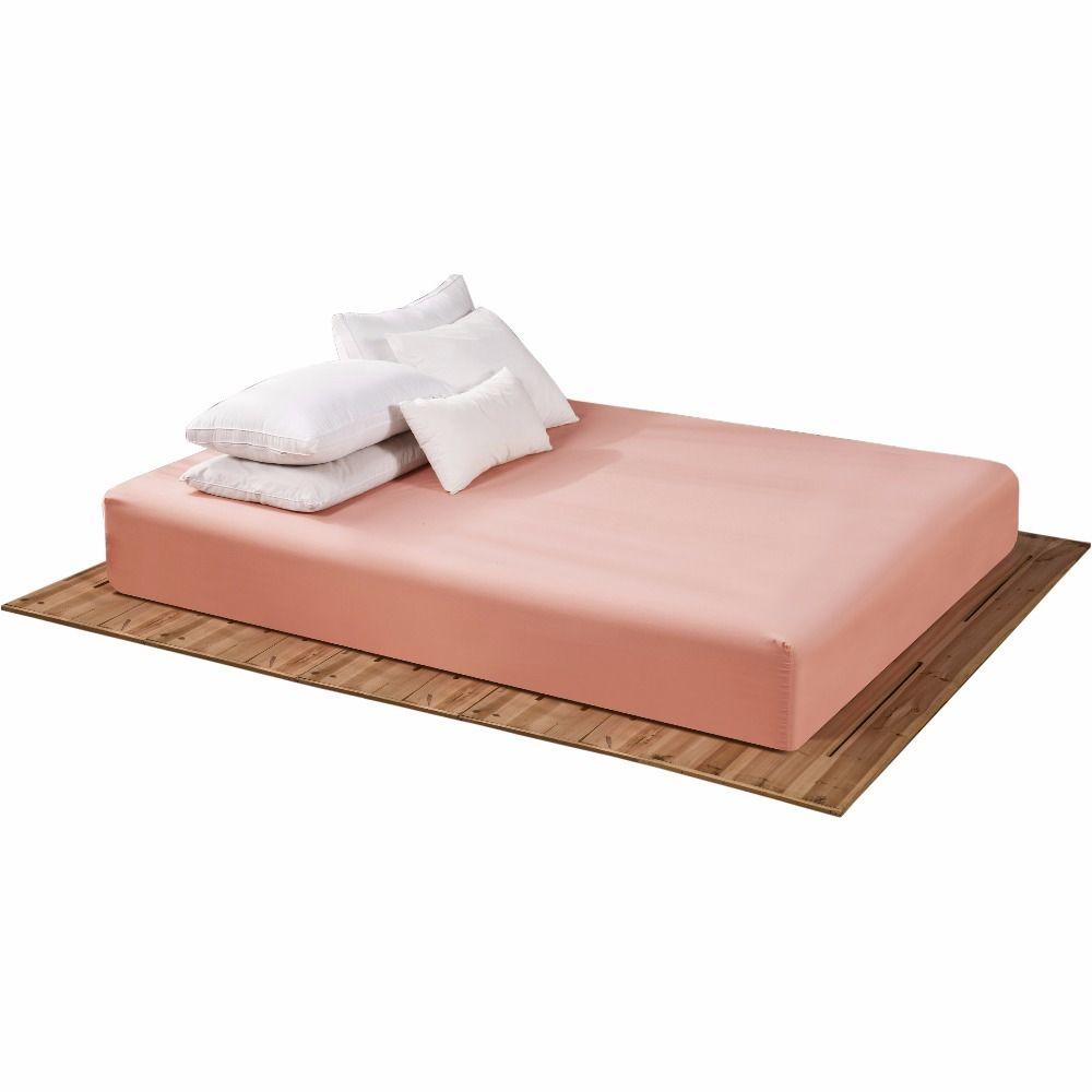 160x200 cm drap housse avec une bande élastique 17 couleurs solides draps de lit linge de lit couvre-lit polyester coton housse de matelas TD200
