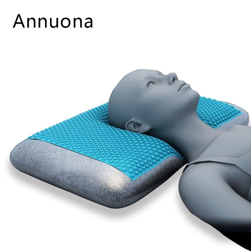 Gel Memory Pillow Constant temperature Zero pressure Treatment of insomnia and more dreams snoring Ice silk pillowcase70x40x12cm