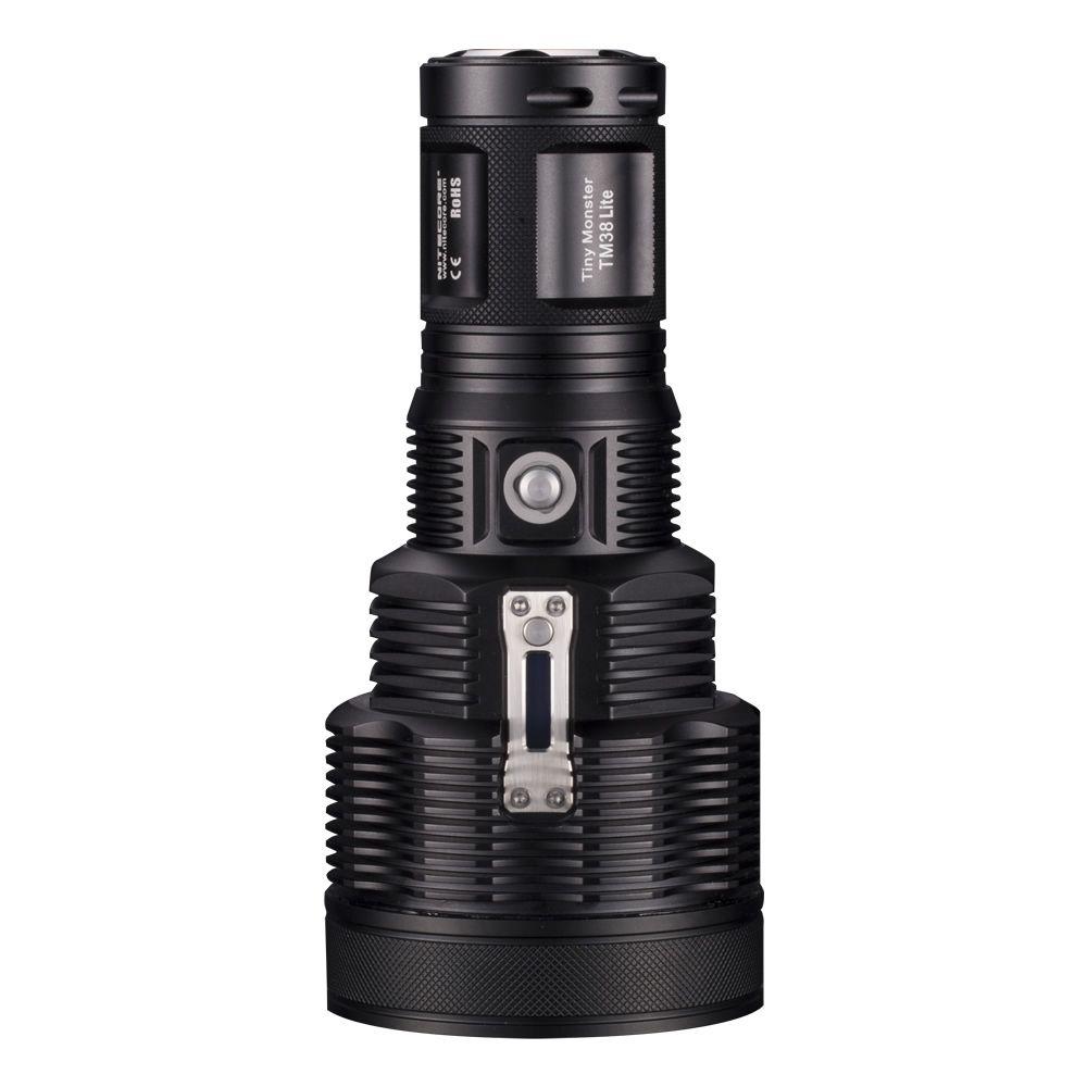 2019 nouveau Nitecore TM38 Lite 1400 mètres Distance de faisceau torche 1800 Lumen CREE XHP35 salut D4 LED minuscule monstre lampe de poche Rechargeable
