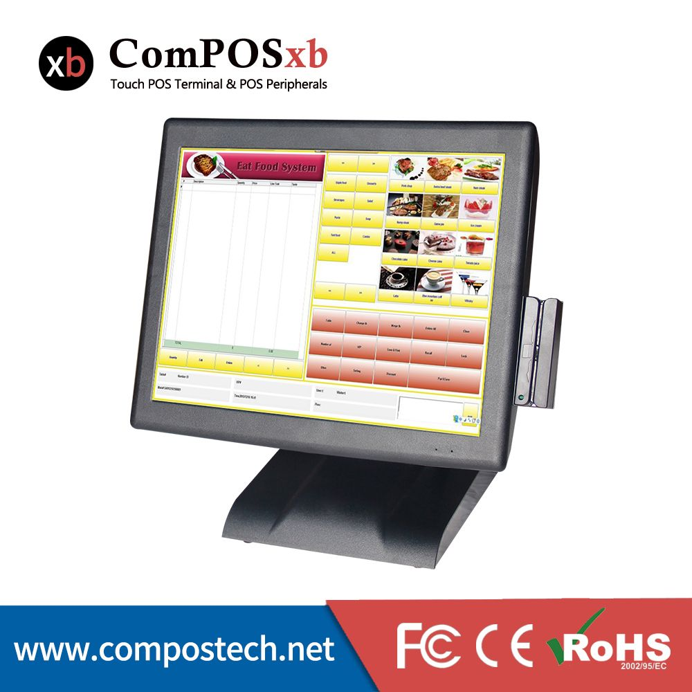 free shipping 15 Inch Touch Pos System Pos All In One Point Of Sale With MSR for retail