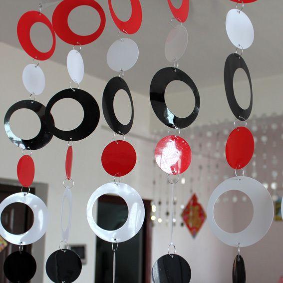 Rideau en plastique coloré chambre d'enfants dessin animé rideau décoratif intérieur décoration de la maison