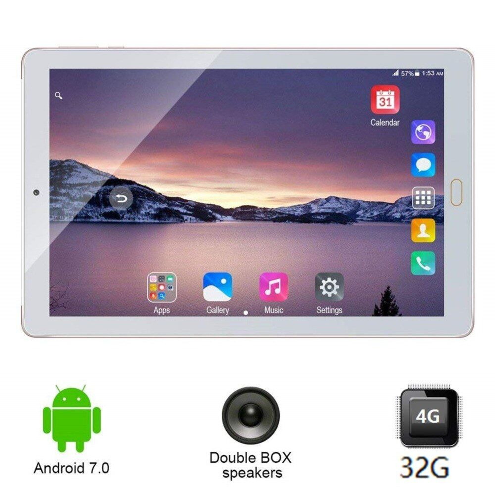 New 10.1 inch tablets PC Original 3G Phone Call Android 7.0 tablet Quad Core 32GB 8000mAh dual camera Tablet support TF card OTG
