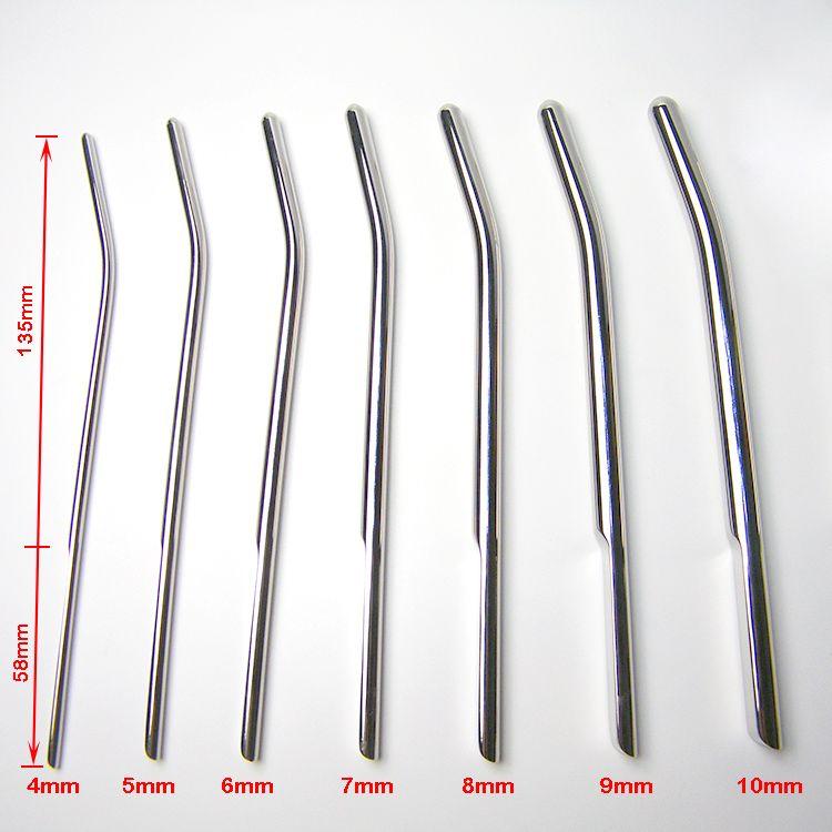 7 pièces/ensemble sons urétraux en acier inoxydable civière urétrale dilatateur prise de pénis mâle chasteté produits sexuels sonde en métal pour les hommes