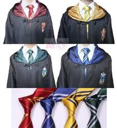 Harri Potter Robe Cape Cape Gryffondor/SlytherinRavenclaw/Poufsouffle Robe Cosplay Costumes Enfants Adultes Enfants de Cadeau du Jour