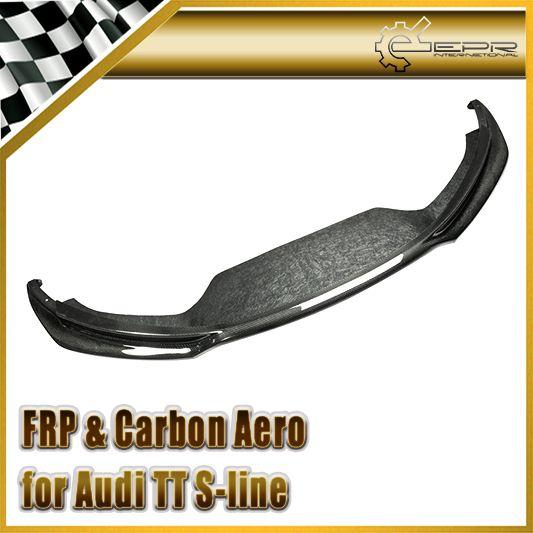 Car-styling For Audi TT S-line (Type 8J) 2007-2012 Carbon Fiber AS Sport Front Lip Fibre Bumper Accessories