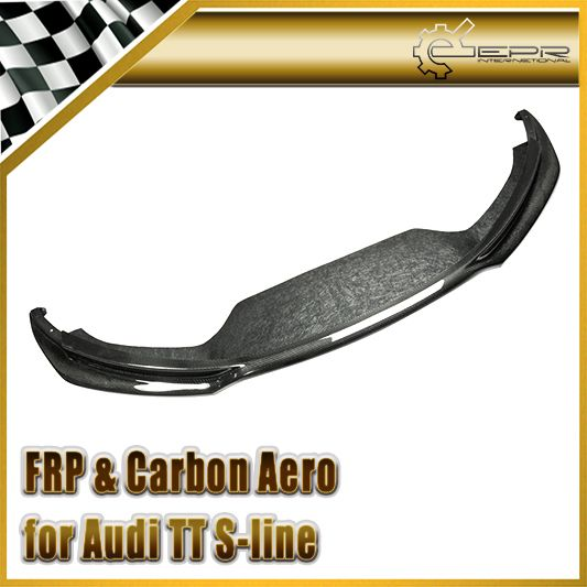 Car-styling For Audi TT S-line (Type 8J) 2007-2012 Carbon Fiber AS Sport Front Lip Fibre Bumper Accessories
