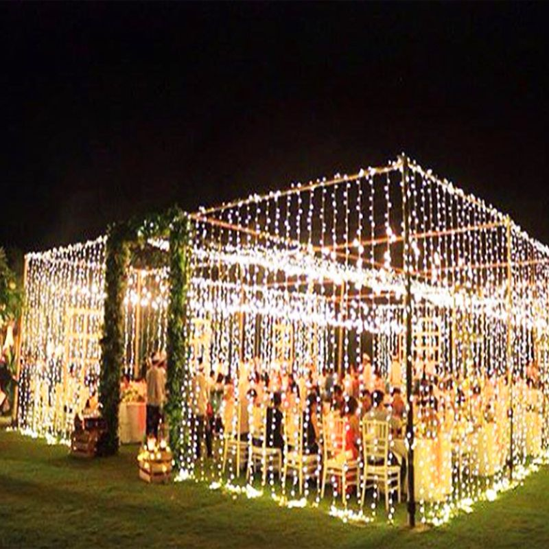 10 M x 3 M 1000 ampoules LED rideau chaîne noël guirlande LED lumières décorations de mariage fées lumières vacances fête jardin décor
