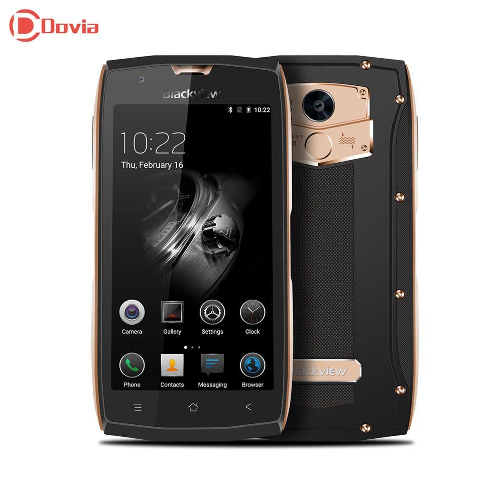 Blackview BV7000 4G Smartphone 5.0 inch Android 7.0 MTK6737T Quad Core 2GB RAM 16GB ROM Fingerprint Scanner NFC OTG Mobile Phone