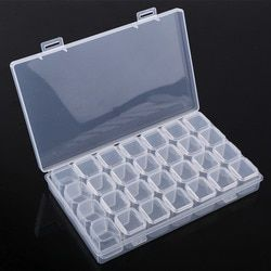 28 Slots Adjustable Plastic Storage Box Jewelry Box for Diamond Embroidery Craft Bead Pill Storage Tool Plastic Box Pill Boxs