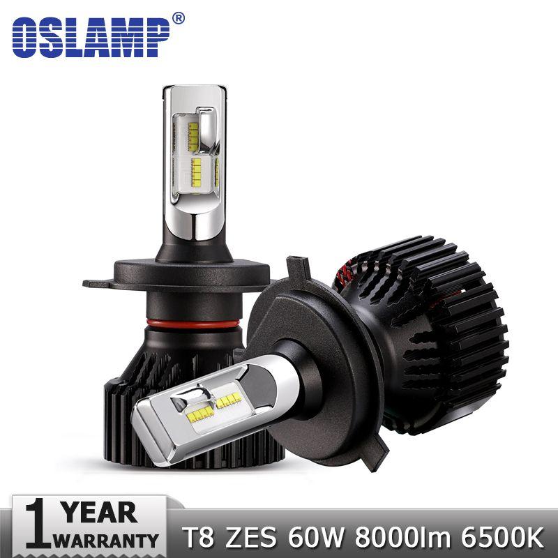 Oslamp H4 High Low Beam H7 H11 9005 9006 LED Car <font><b>Headlight</b></font> Bulbs 12v 24v ZES Chips 60W 8000LM Led Auto Headlamp Fog Light 6500K