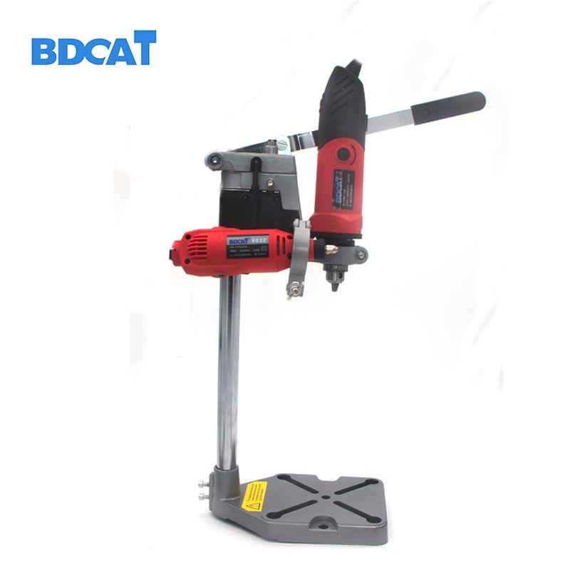 BDCAT Dremel support de perceuse électrique outils électriques accessoires banc perceuse support de presse outil de bricolage Base support de perceuse mandrin