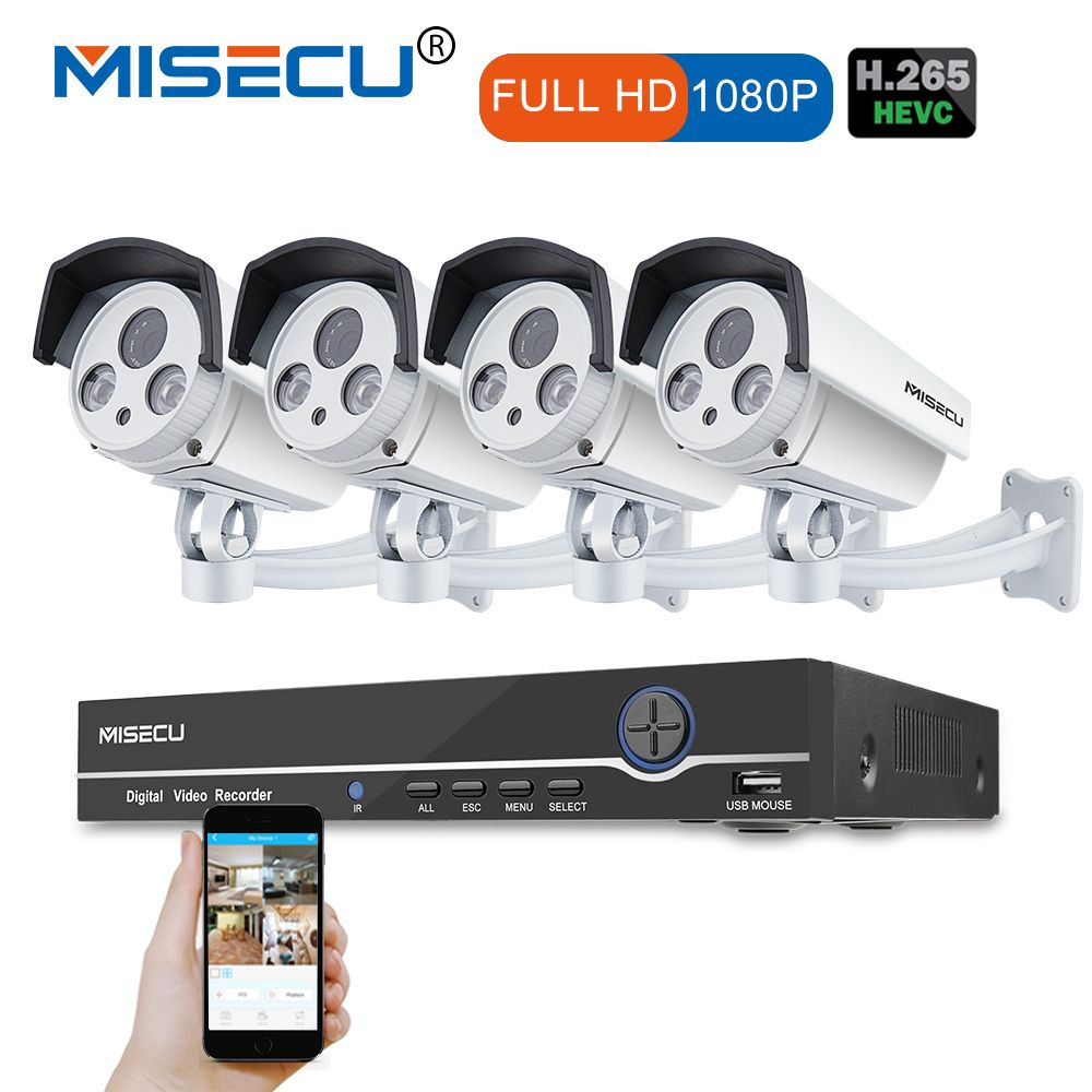 8CH Echt 48 v HD POE NVR Onvif 1080 p HDMI 2.0MP High Power Array IR Led POE NACHT wasserdicht p2P wolke Surveillance kamera kit
