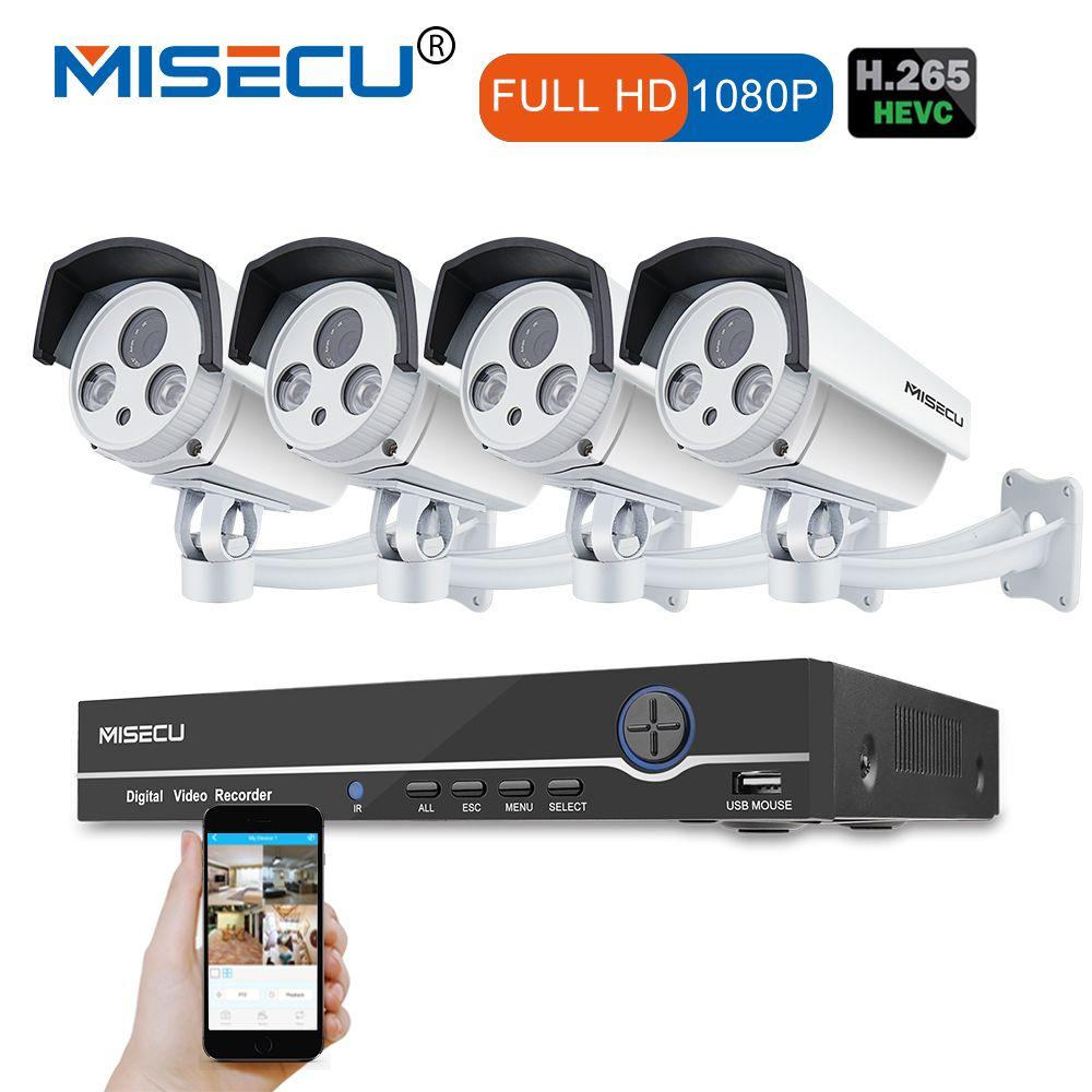 8CH Real 48V HD POE NVR Onvif 1080P HDMI 2.0MP High Power Array IR Led POE NIGHT waterproof P2P cloud Surveillance camera kit