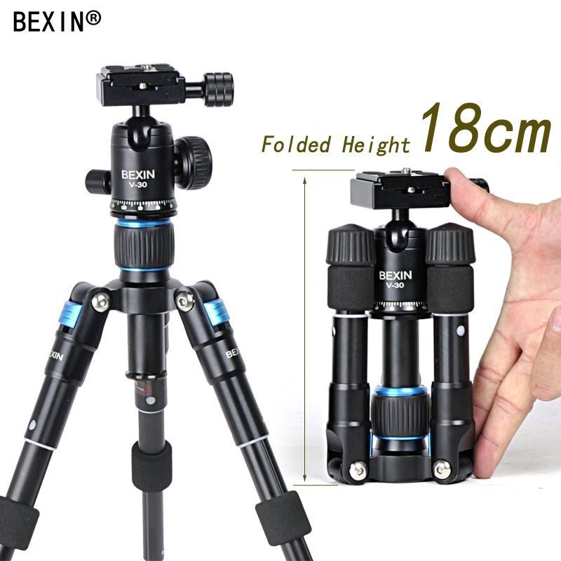 Bexin Lightweight Camera Tripod Aluminum Desktop Photography Compact Mini Tripod with swivel Ball Head for Canon DSLR Camera